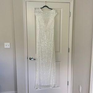 Sparkly white wedding/party dress